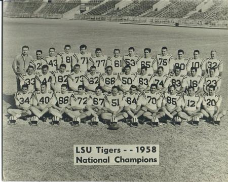 1958 LSU Tigers National Champions