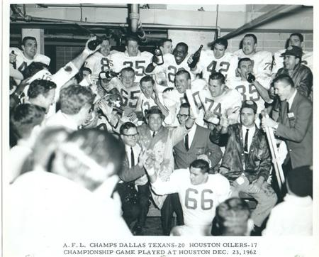 AFL Champs Dallas Texans 1962