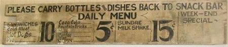 Sign Inside of USO, 1941