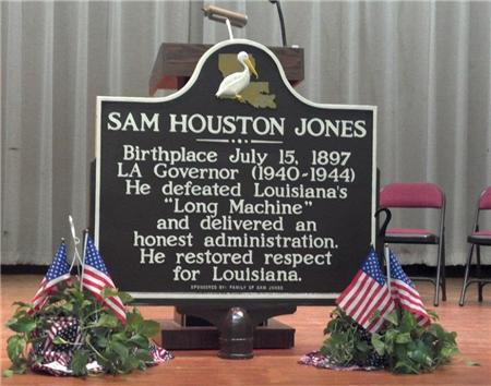 Sam Jones Highway Marker