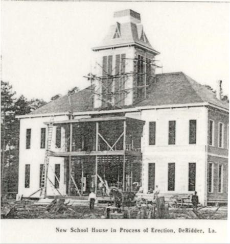 Early 1900s DeRidder, New School House